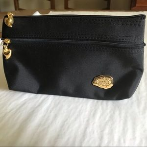Carlos Falchi | Makeup Bag Black Gold Clutch